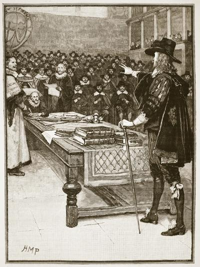 Trial of Charles, Illustration from 'Cassell's Illustrated History of England'-English School-Giclee Print