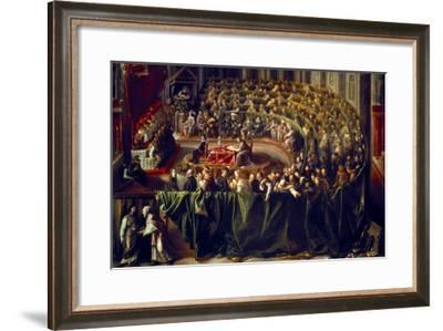 Trial of Galileo, 1633--Framed Giclee Print