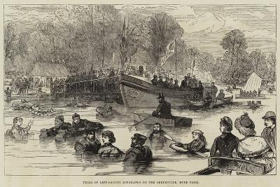 Trial of Life-Saving Apparatus on the Serpentine, Hyde Park--Giclee Print