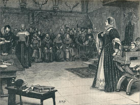 Trial of Mary Queen of Scots in Fotheringhay Castle, 1586 (1905)-Unknown-Giclee Print