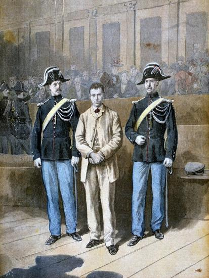 Trial of Sante Jeronimo Caserio, Italian Anarchist and Assassin, 1894-Frederic Lix-Giclee Print