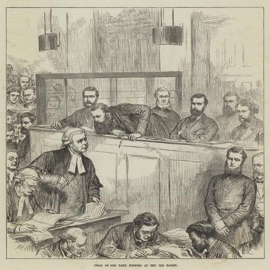 Trial of the Bank Forgers at the Old Bailey-Arthur Hopkins-Giclee Print