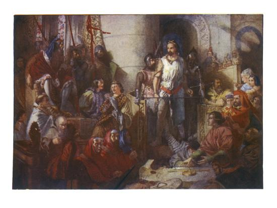 Trial of William Wallace--Giclee Print