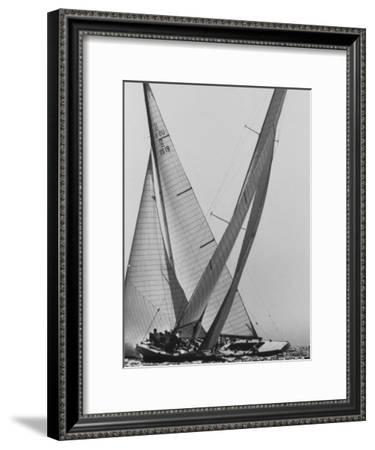 Trial Race For the America's Cup-George Silk-Framed Premium Photographic Print