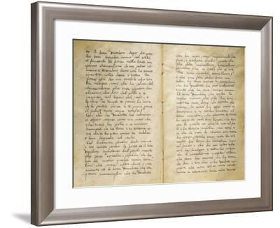 Trial Sentence Declaring Death Penalty for Corinna Modotti, Treviso, Italy--Framed Giclee Print