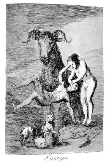 Trials, 1799-Francisco de Goya-Giclee Print