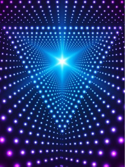 Triangle Border with Light Effects. Concept for Party Flyers, Music Posters and Disco Graphic Desig-SkillUp-Art Print