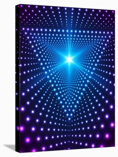 Triangle Border with Light Effects. Concept for Party Flyers, Music Posters and Disco Graphic Desig-SkillUp-Stretched Canvas Print