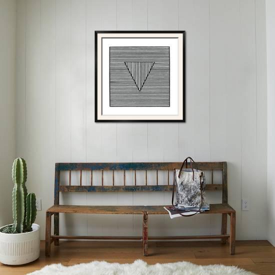 Triangle, c.1980 Framed Art Print by Sol Lewitt | Art.com