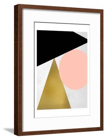 Triangle Circle 1-Kimberly Allen-Framed Art Print