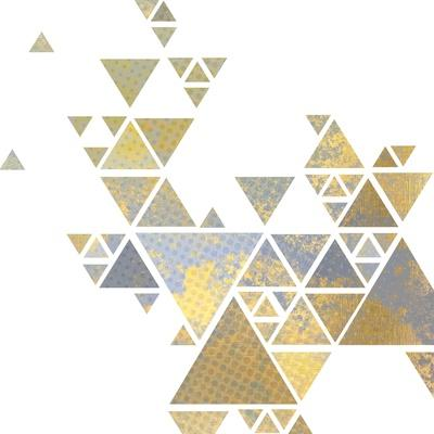 Triangle Gold 2-Kimberly Allen-Art Print