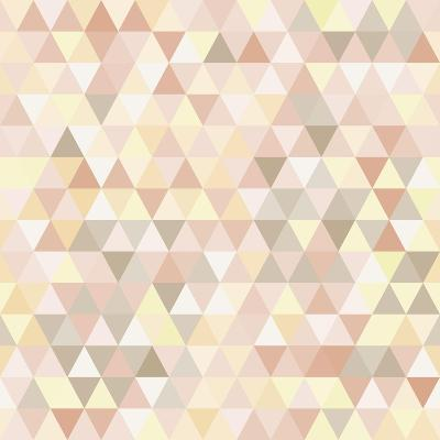 Triangle Neutral Abstract Background-IreneArt-Art Print
