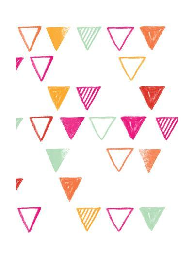 Triangle Pattern with Stripes--Art Print