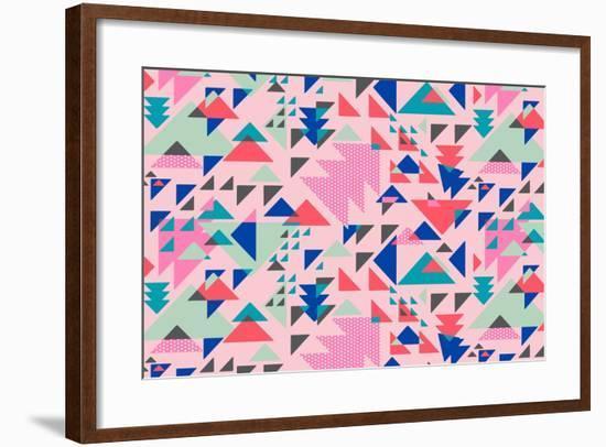Triangle Pop--Framed Giclee Print