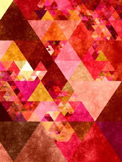 Triangles Abstract Pattern 12-Grab My Art-Art Print