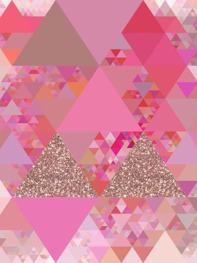 Triangles Abstract Pattern 13-Grab My Art-Art Print