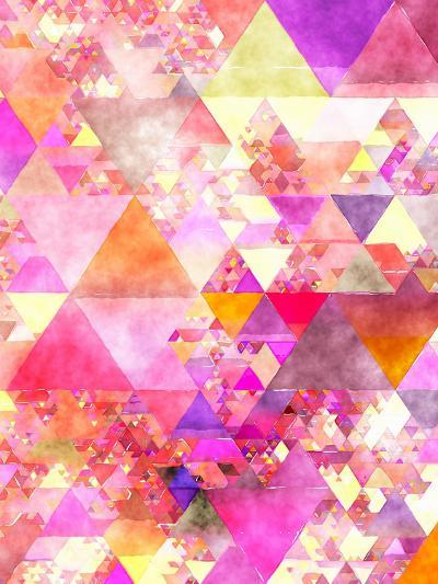 Triangles Abstract Pattern 18-Grab My Art-Art Print