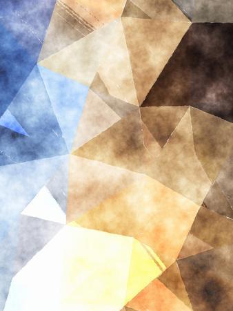 Triangles Abstract Pattern 4-Grab My Art-Art Print