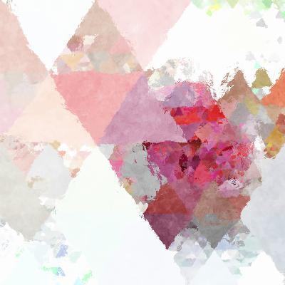 Triangles Abstract Pattern - Square 11-Grab My Art-Art Print