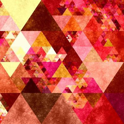 Triangles Abstract Pattern -Square 12-Grab My Art-Art Print