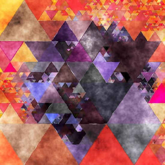 Triangles Abstract Pattern - Square 14-Grab My Art-Art Print