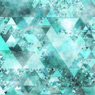 Triangles Abstract Pattern - Square 15-Grab My Art-Art Print