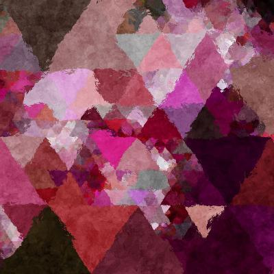 Triangles Abstract Pattern - Square 19-Grab My Art-Art Print