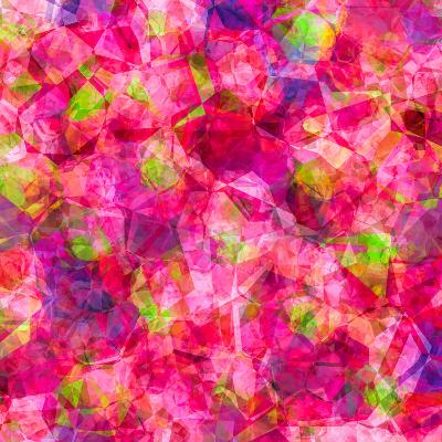 Triangles Abstract Pattern - Square 22-Grab My Art-Art Print