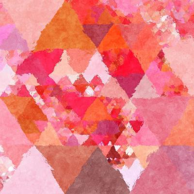 Triangles Abstract Pattern - Square 23-Grab My Art-Art Print