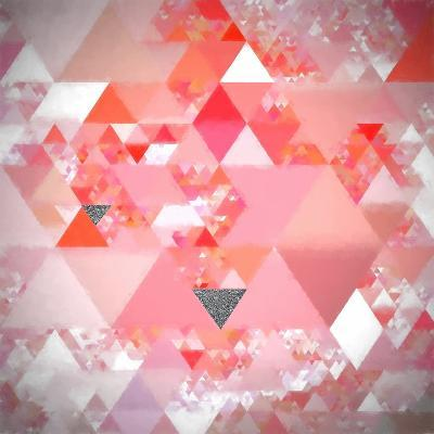 Triangles Abstract Pattern - Square 24-Grab My Art-Art Print