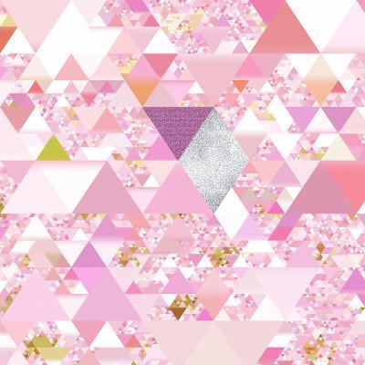 Triangles Abstract Pattern - Square 25-Grab My Art-Art Print