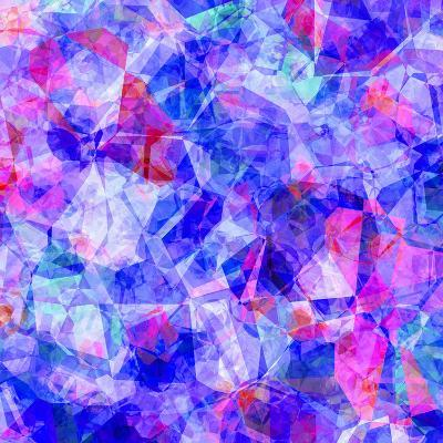 Triangles Abstract Pattern - Square 30-Grab My Art-Art Print