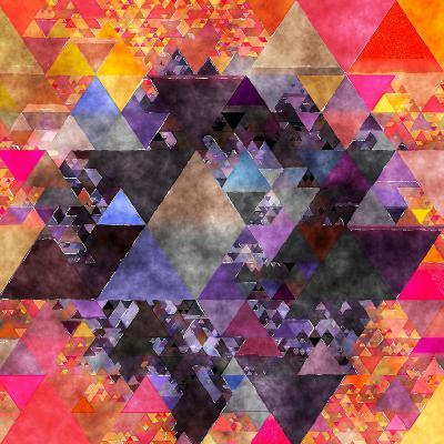 Triangles Abstract Pattern - Square 6-Grab My Art-Art Print