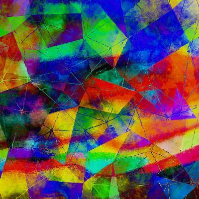 Triangles Abstract Pattern - Square 9-Grab My Art-Art Print