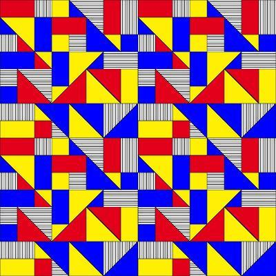 Triangles and Squares Geometrical Pattern-Bard Sandemose-Art Print