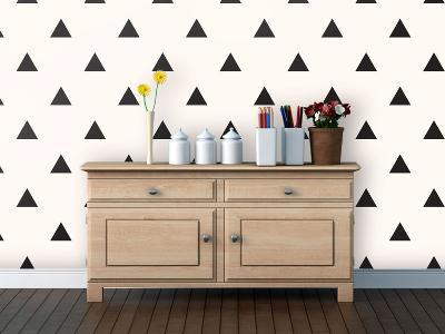 Triangles - Midnight Self-Adhesive Wallpaper--Home Accessories