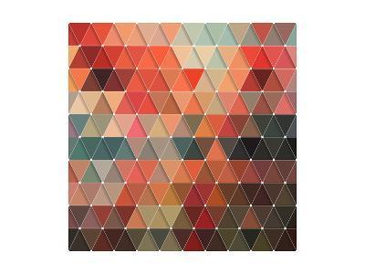 Triangles Pattern-Maksim Krasnov-Art Print