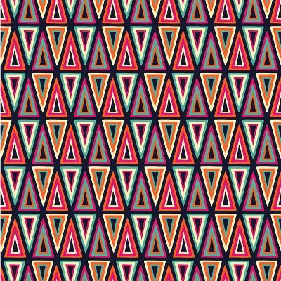 Triangles Pattern-Magnia-Art Print