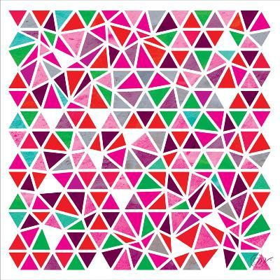 Triangles - Pink and Green-Dominique Vari-Art Print