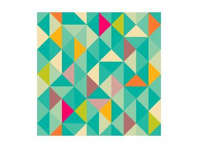 Triangles Seamless Pattern-Heizel-Art Print