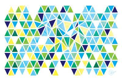 Triangles - Spring-Dominique Vari-Art Print