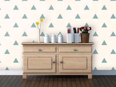 Triangles - Spruce Self-Adhesive Wallpaper--Home Accessories