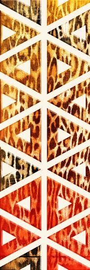 Triangular Animals Bright-Jace Grey-Art Print