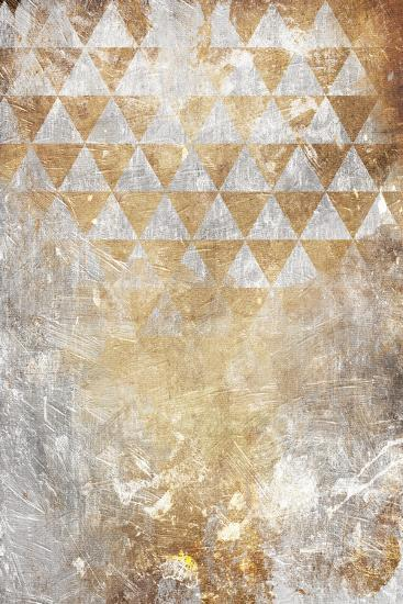 Triangular Takeover Gold-Jace Grey-Art Print