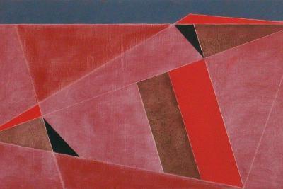 Triangulated Red Landscape, 2002-George Dannatt-Giclee Print