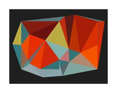 Triangulations n.6, 2013-Henri Boissiere-Serigraph
