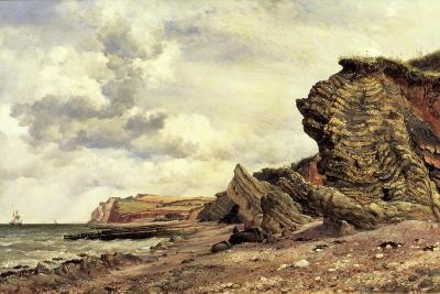 Triassic Cliffs, Blue Anchor, North Somerset, 1866-Edward William Cooke-Giclee Print