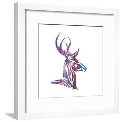 Tribal Buck 2-Melody Hogan-Framed Art Print