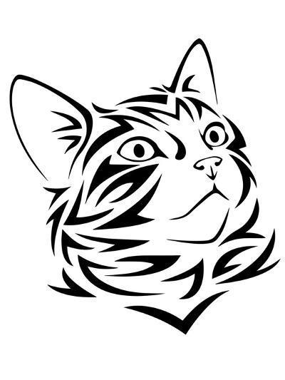 Tribal Cat Kitten Animal-Wonderful Dream-Art Print