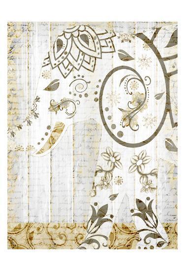 Tribal Elephant 2-Kimberly Allen-Art Print
